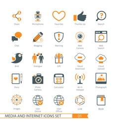 Social Media 01 vector image