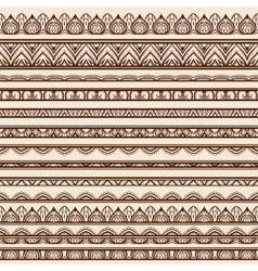 Set of henna borders vector
