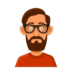 Hipster man in glasses avatar profile userpic on vector