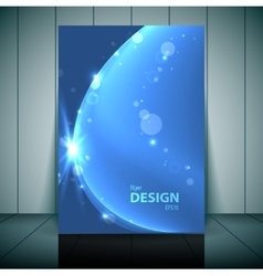 Blue business flayer template vector
