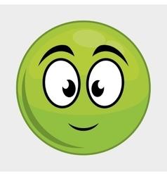 Cartoon face icon expression design vector