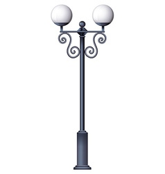 A lamp post vector image vector image