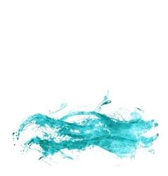 Abstract watercolor sea vector