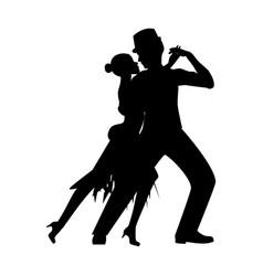 Argentina tango silhouette vector