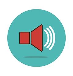 Audio speaker volume icon vector