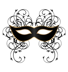 Black carnival mask with ornament vector