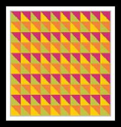 Bright multicolored seamless pattern Triangles vector image