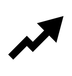 Chart of growth with arrow up vector