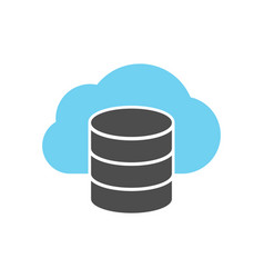 cloud server icon vector image vector image