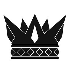 Cog crown icon simple style vector