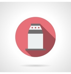 Contemporary turnstile red round icon vector