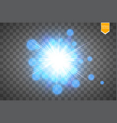 creative concept set of glow light effect vector image vector image