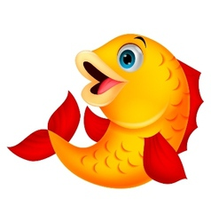 Cute fish cartoon vector