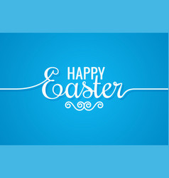 Easter line vintage lettering design background vector