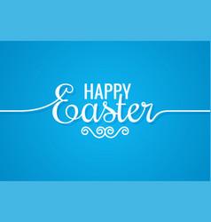 easter line vintage lettering design background vector image vector image