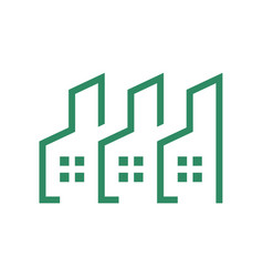 eco friendly residence group logo outline vector image