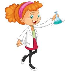 Female Chemist vector image