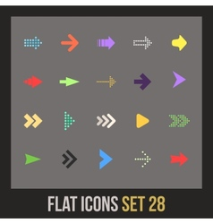 Flat icons set 28 vector image
