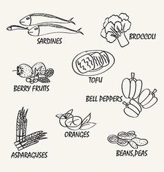 Food elements3 vector