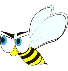 funny cartoon bee vector image