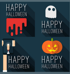 halloween party templates vector image vector image