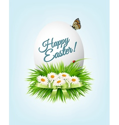 Happy Easter background Colorful easter eggs on vector image vector image