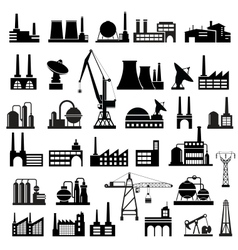 Industrial buildings 2 vector image vector image