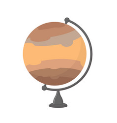Jupiter school globe planet geographical sphere vector