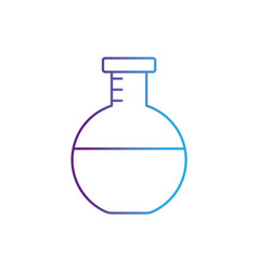 Line erlenmeyer flask to lab chemical design vector