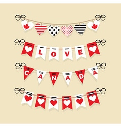 Love canada hanging banners flags and buntings vector