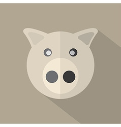 Modern Flat Design Pig Icon vector image vector image