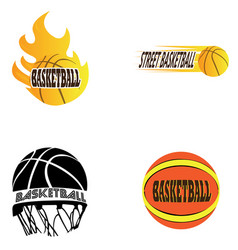 Set of basketball vector