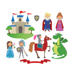 set of fairy tale character vector image vector image