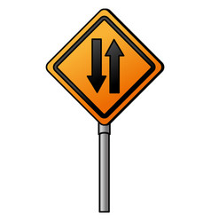 traffic signal double via vector image vector image
