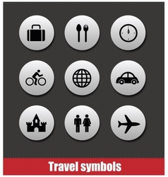 travel symbols set vector image