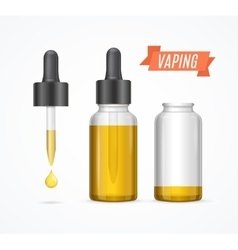 Vaping e-liquid bottle vector