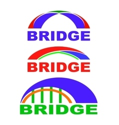Set of bridge icons isolated bridge logo vector