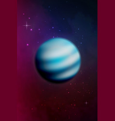planet neptune background vector image