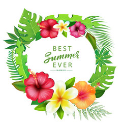 Abstract background with tropical leaves vector