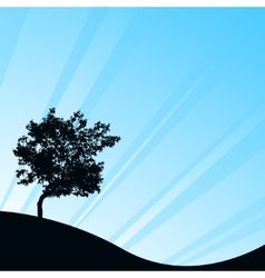 Blue background with tree vector