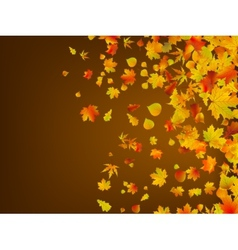 Fallen autumn leaves background EPS 8 vector image