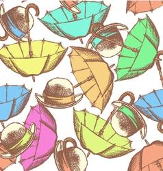 Umbrella hat tie vector