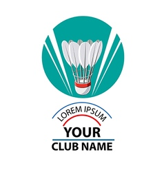 Logo badminton club vector