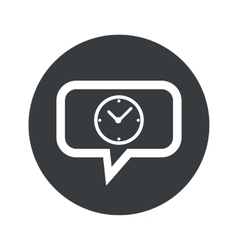 Round clock dialog icon vector