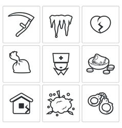 Unhappiness icons vector