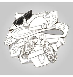 Summer clothes colorless vector