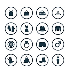 Clothes icons universal set vector