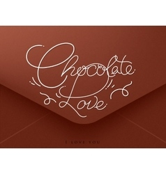 Valentines envelope chocolate vector
