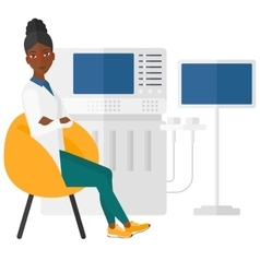 Female ultrasound specialist vector