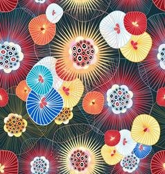 Bright graphic abstract pattern of the fantastic vector